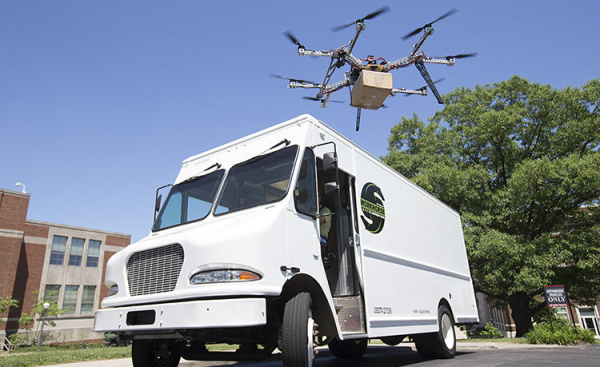 Could electric vans and drones be the future of same day delivery?